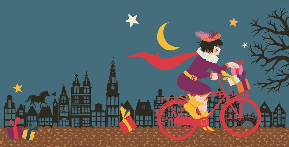 7. Snelle Piet ging uit fietsen Geertje FLAT